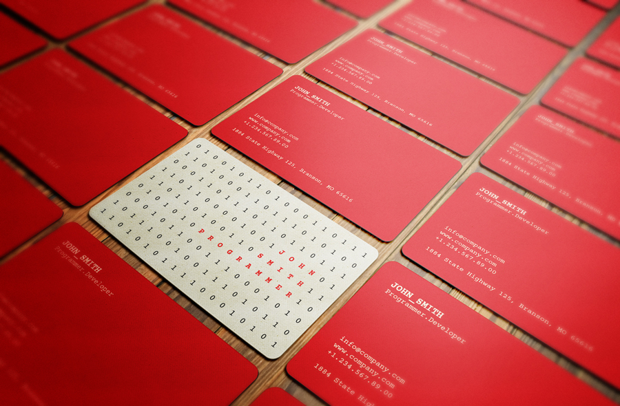 20 Stunning Red Business Cards Design - DesignCanyon