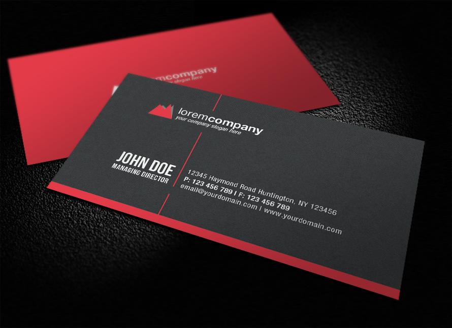 20 Stunning Red Business Cards Design Designcanyon