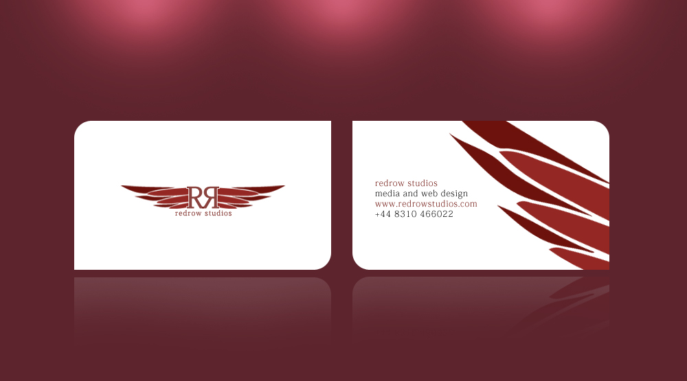 red business cards design
