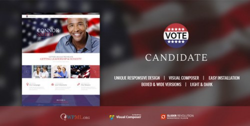 Candidate - Political Campaign, WordPress Theme