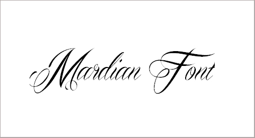Mardian Demo Font