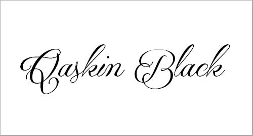 Qaskin Black Personal Use Font