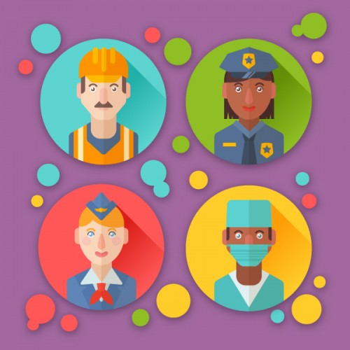 Create Flat Profession Avatars in Adobe Illustrator