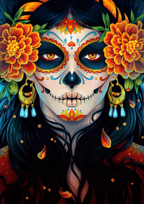 Create a Vibrant Day of the Dead Portrait