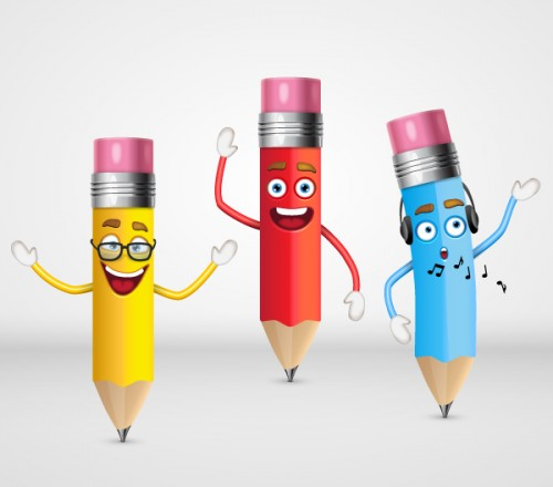 Pencil Characters Illustrator Tutorial