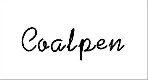 Coalpen Font